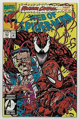 Web Of Spider Man 101 Vf Nm Maximum Carnage Pt 2 Great Cover 1993