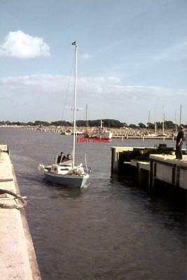 Photo  1965 Leaving Chichester Marina A Yacht Passing Through The Open Lock Gate