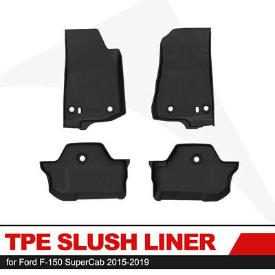 KIWI MASTER Floor Liners TPE Slush Mat Front Rear Mats for Jeep Wrangler JL 2D
