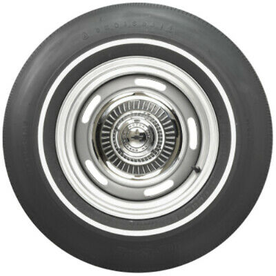 Coker G70-14 Firestone Poly/Glass Pin White Stripe Sidewall Tire