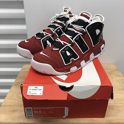 f28ca775d6 NIKE AIR MORE UPTEMPO '96 CHICAGO BULLS MENS 921948 600 Size 10.5 Black Red