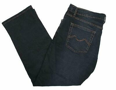 Urban Star Mens Relaxed Fit Straight Leg Jeans Strech Extensible Blue Black