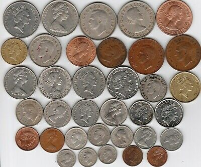 35 different world coins from NEW ZEALAND