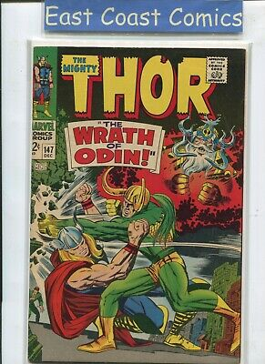 The Mighty Thor #147 - The Wrath Of Odin - Very Fine Plus - Marvel