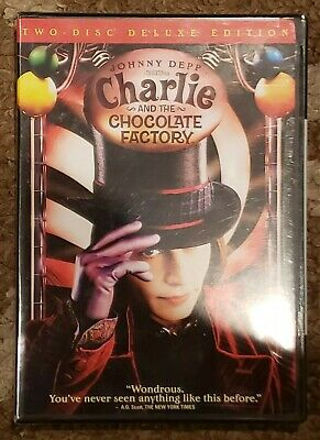 Tim Burton's Charlie and the Chocolate Factory 2-Disc Delux Edition DVD NEW
