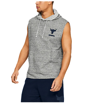 02064f2291c8e Under Armour Men s Project Rock Terry Sleeveless Hoodie 2019 Collection UK  Euro