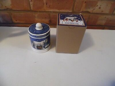 Emma Bridgewater Winter Animals Filled Small Lidded Candle Jar - New Boxed
