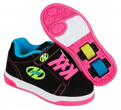Heelys X2 Dual Up Noir Multi Néon Roller / Chaussures de Skate + Gratuit How To