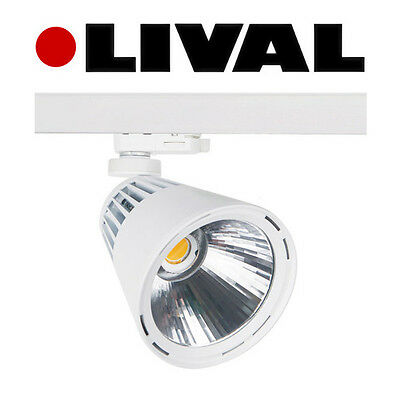 Lival 39W 3300lm 3000K LED Galleria AC track mounted spotlight - RRP £136.36