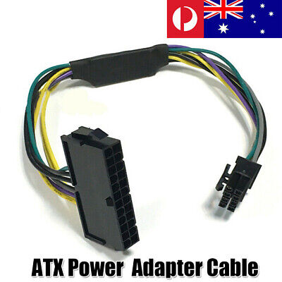 24 Pin Female to DELL Optiplex Server Motherboard 8 Pin Male Adapter Power'Cable