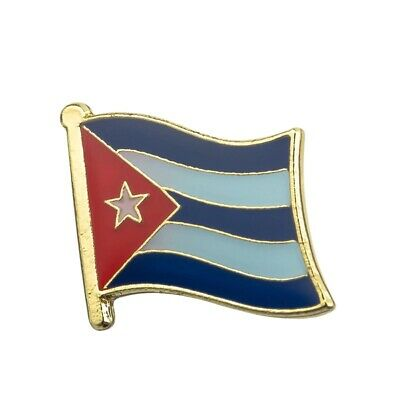 Cuba Cuban National Flag Lapel Metal Enamel Pin Badge