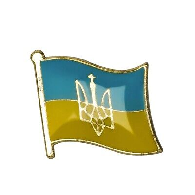 Ukraine Ukrainian National Flag Lapel Metal Enamel Pin Badge