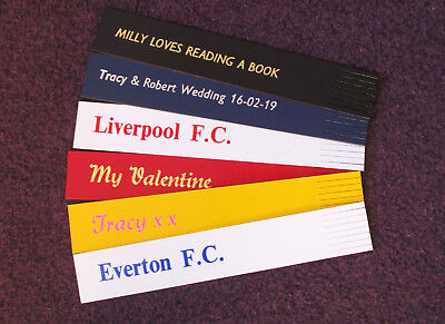 BOOKMARKS Faux Leather Bookmarks Printed & Personalised