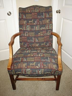 SAM MOORE Collectors Guild Mahogany Finish  Accent Chair Excellent Condition
