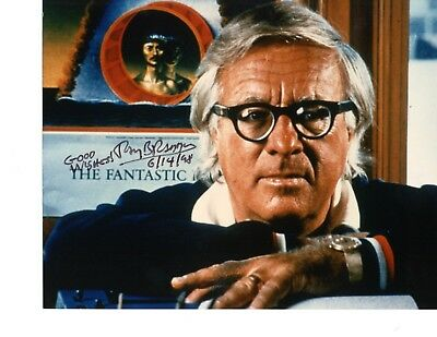 Ray Bradbury Color Hand Signed Photo By Famous American Author/Screenwriter