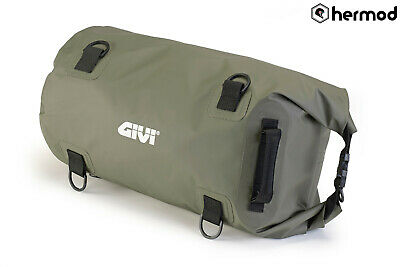 Givi EA114KG Waterproof Motorcycle Dry Roll Tail Bag - Green
