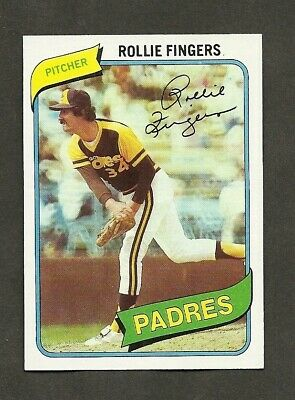 Sports Mem, Cards & Fan Shop *nice Card--well  Centered--sharp Corners* Without Return Rollie  Fingers  1980  Topps  # 651