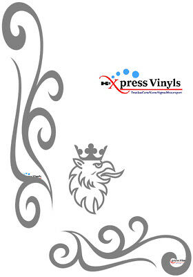 Scania window decals x 2 griffin style vinyl truck graphics stickers