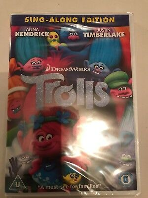 Trolls DVD New & Sealed Free Delivery