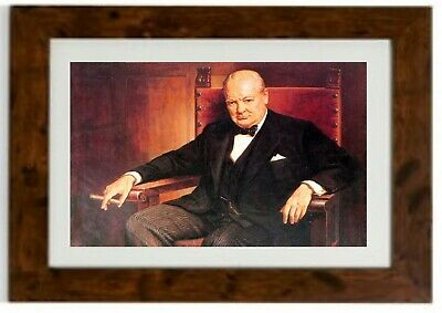 Sir Winston Churchill Framed Print by Arthur Pan