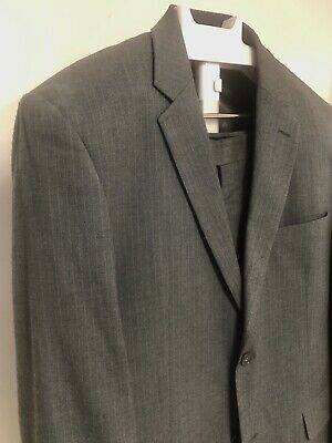 Marks and Spencer 42L Dark Grey Pinstripe Suit Previously Worn-Great Condition