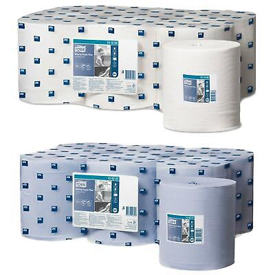 Tork M2 Wiping Paper Plus 2-Ply Multi-Purpose Centrefeed Roll 6 Pack Blue White