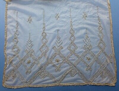 An Antique Beaded Net Stole, Wrap Or Shawl