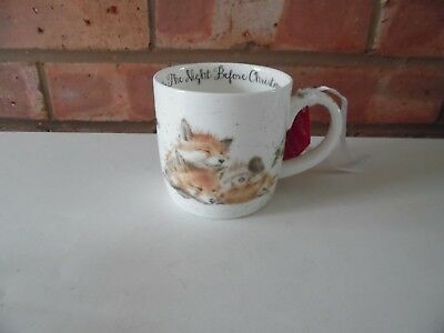 Royal Worcester Wrendale Night Before Christmas Mug - Foxes  - New