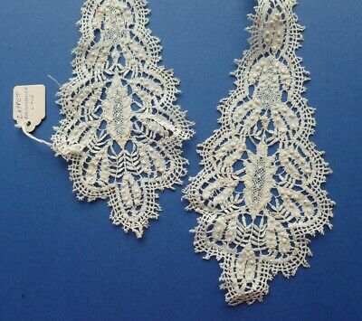A Victorian Hand Made Bedfordshire Lace Lappet With Raised Tallies