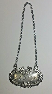 - W - Wallace  Scotch Sterling Silver Tag Excellent Condition And Patina