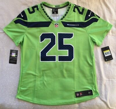 668e1fdc2 Nike Seattle Seahawks Richard Sherman Nfl Color Rush Jersey Women's Small S  New