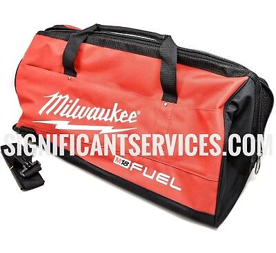 "Milwaukee M18 Fuel Heavy Duty Large Bag Tool Case 25""L X 13""W X 12""H Strap"