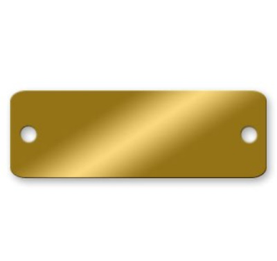Blank Rounded Corner Brass Tags - 3 x 1