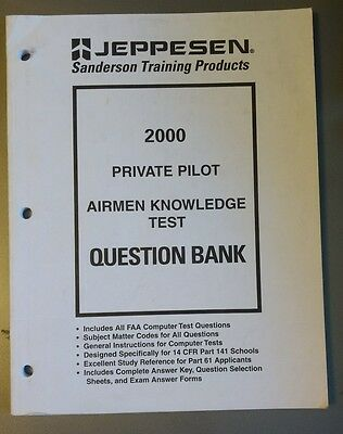 JEPPESEN PRIVATE PILOT FAA airmen knowledge Test Guide - $14 65