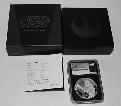 2017 Niue Fine Silver $2 Star Wars Chewbacca Ngc Pf70 Ultra Cameo With Box