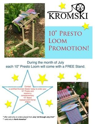 Kromski Presto Loom Free Warping Stick Yarn Pattern Free Ship