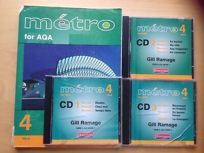 Métro 4 for AQA Vert . Gill Rammage Pupil Book and CDs 1, 2,and 3.