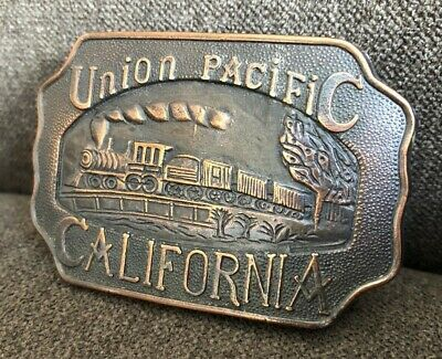 Vintage Union Pacific Railroad California Belt Buckle