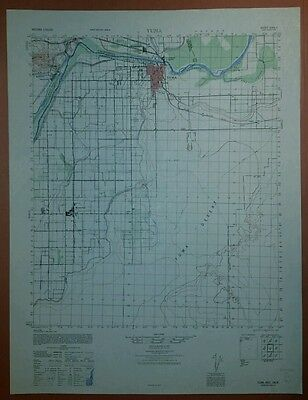 1940's Army Topo map Yuma Arizona 3049 II (like USGS)