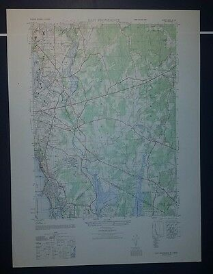 1940's Army topographic map East Providence RI Sheet 6767 IV SE