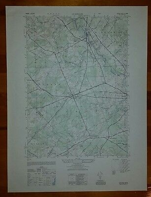 1940's Army (like USGS) topographic map Gorham Maine -Sheet 6971 III SW