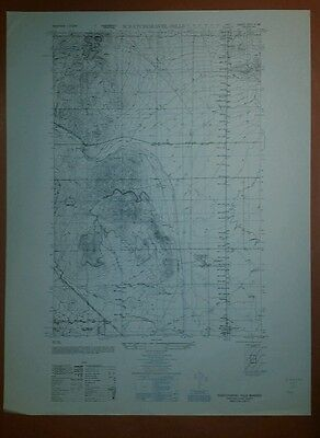 1950 Army Topographic map  Scratchgravel Hills Montana Sheet 3577 II NE