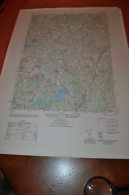 1940's Army topographic map Westford, Massachusetts -  Sheet 6769 III SW