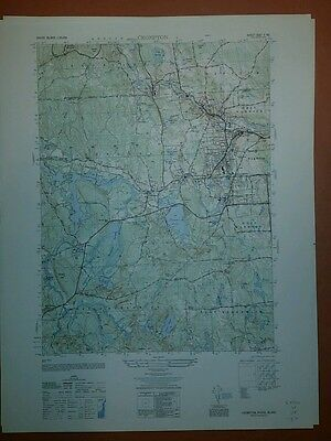1940's Army topographic map Crompton RI Sheet 6667 II NE