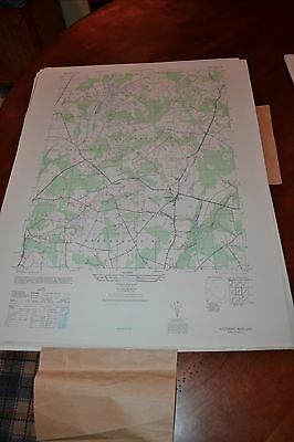 1940's Army topographic map Goldsboro Maryland -Sheet 5862 III SE