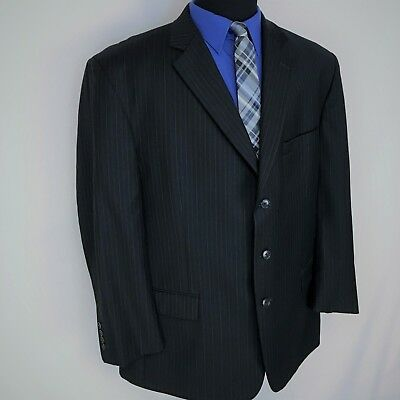 OLIVER MEN'S Sz 46 S 3 BUTTON MED THICK SUIT BLAZER COAT JACKET MADE IN USA