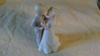 Lefton 1983 Bride & Groom Music Box Christopher Collection  #03821 Hand Painted