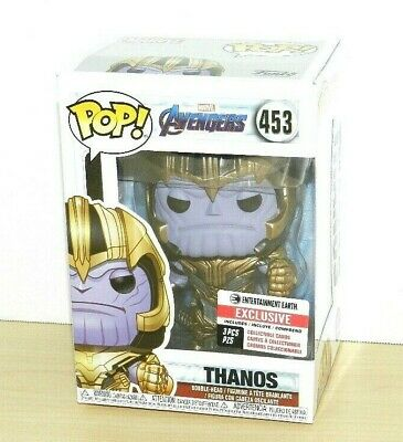 Marvel Funko Pop Thanos End Game Movie Exclusive Rare With Cards Limited New 453
