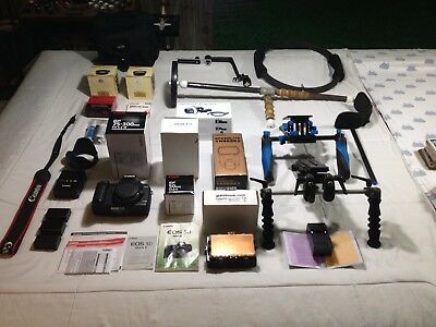 canon eos 5d mark ii bundle shutter count 4311+3 lenses+juiced link+rigs+more!!!