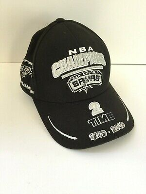 official photos 5f46c a1f95 SAN ANTONIO SPURS NBA Champions 2 Time 1999 2003 Adjustable Baseball Cap Hat
